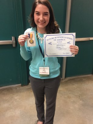National Qualifier and State Champion 1st place in Public Speaking II - Daisy Burns