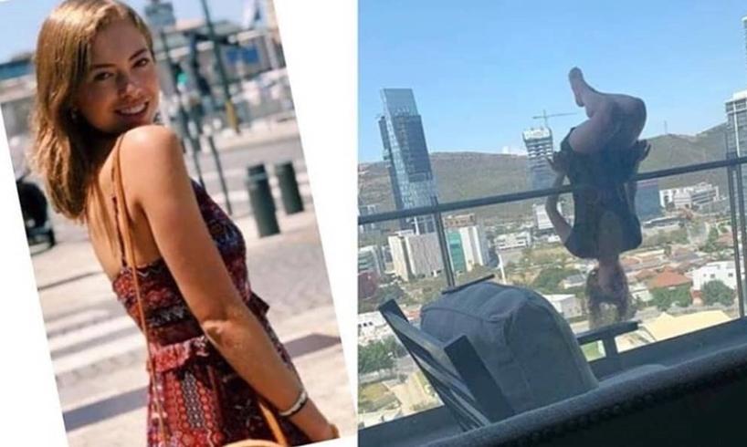 Alexa Terrazas Lopez Extreme Yoga Balcony Fall Mexico