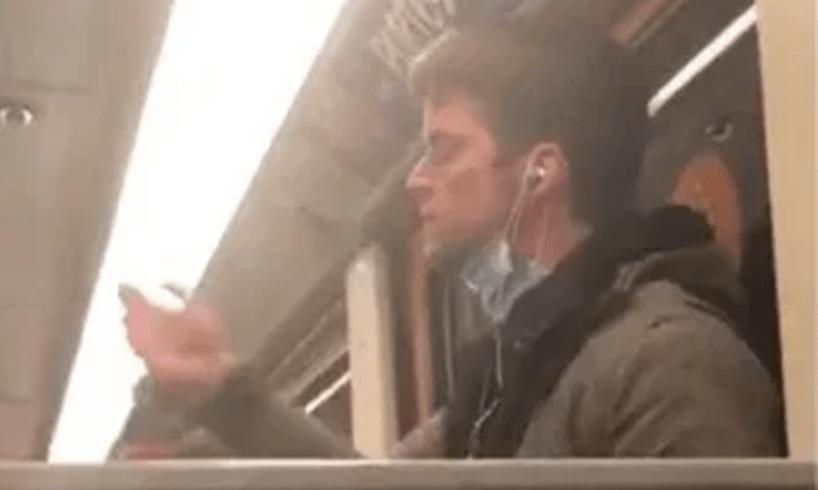 Belgium Man Coronavirus Subways Licking