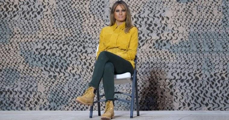 Melania Trump Timberland Boots Kamala Harris