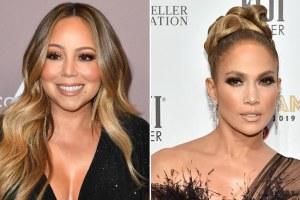 Mariah Carey Jennifer Lopez Ryan Seacrest Christmas Twitter