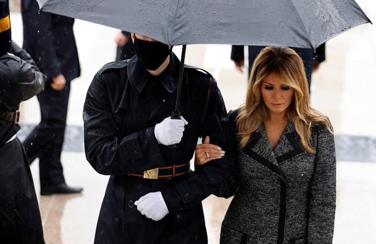 Melania Trump Virginia's Arlington National Cemetery On Veterans Day