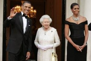 Barack Obama Queen Elizabeth Michelle Meeting Book A Promised Land