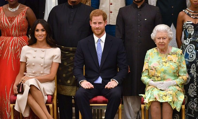 Meghan Markle Prince Harry Queen Elizabeth Megxit