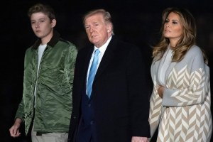 Barron Donald Trump Melania White House Exit Video