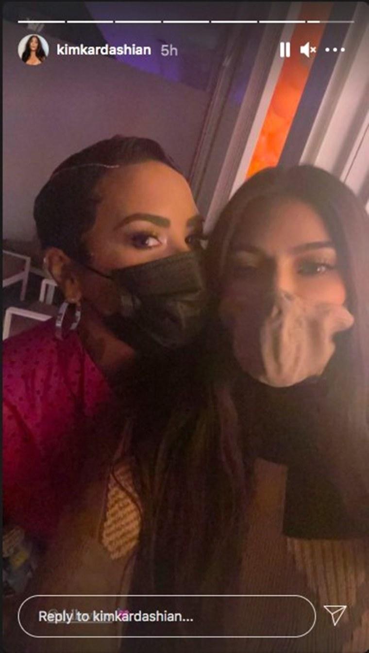Demi Lovato Kim Kardashian Premiere