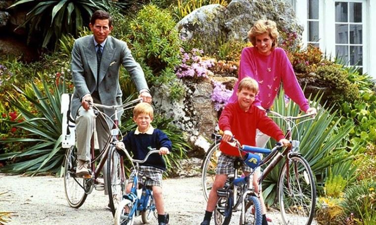 Prince Charles Harry William Princess Diana Bicycle Photo Interview Lie Oprah Winfrey