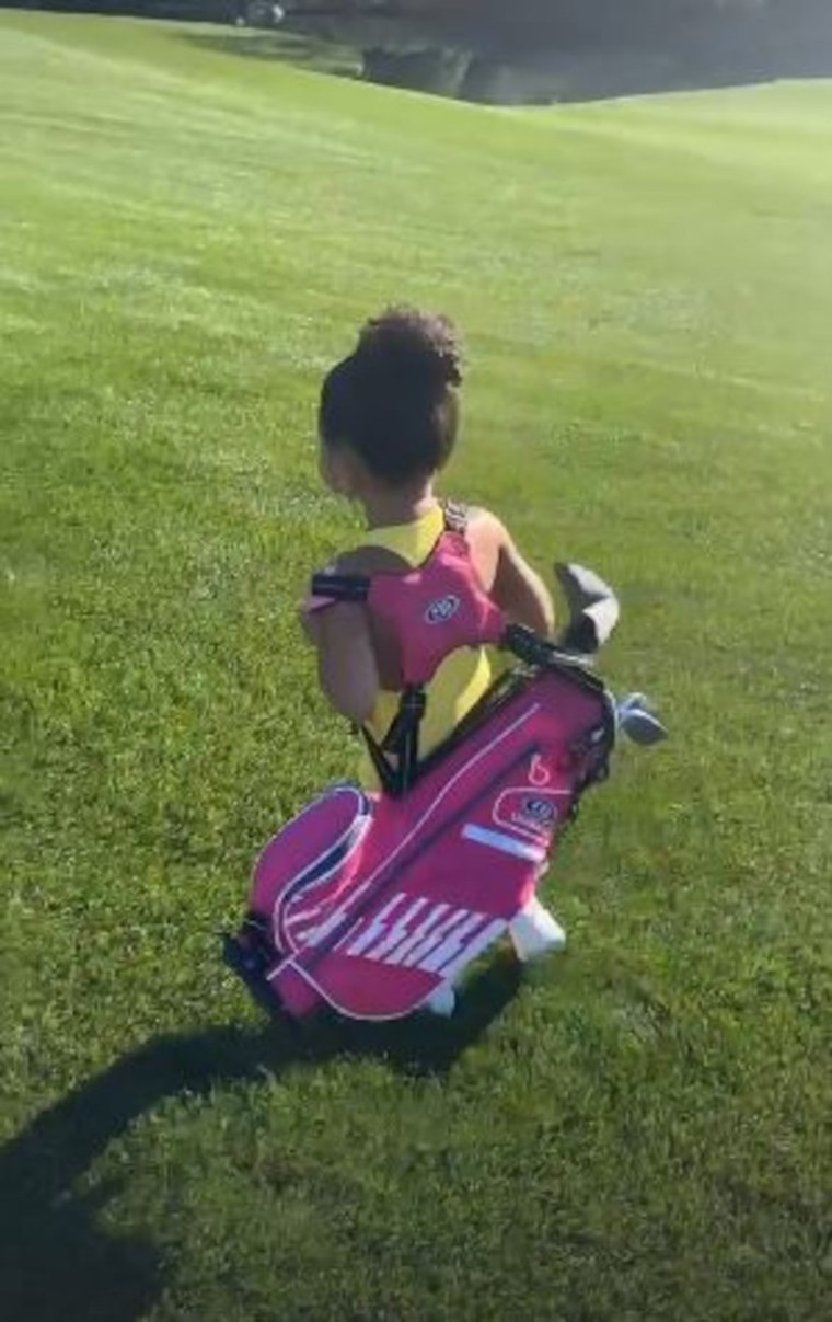 Stormi Webster Golfing Kylie Jenner Travis Scott Daughter