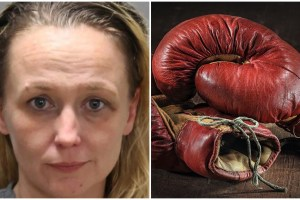 Edith Riddle Mugshot Florida Mom Boxing Glove Navaeh Taylor