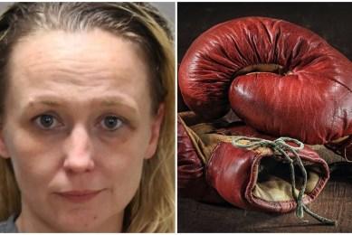 Edith Riddle Mugshot Florida Mom Boxing Glove Navaeh Taylor