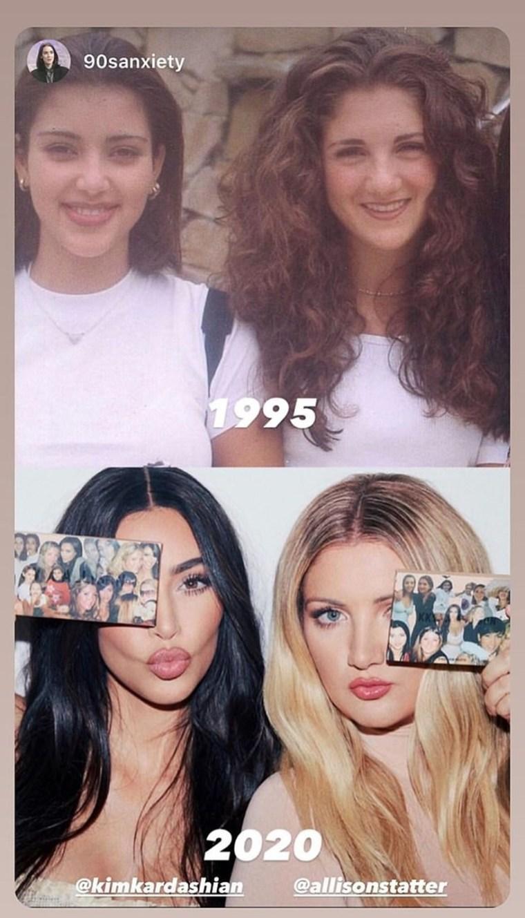 Kim Kardashian Allison Statter Friendship Photos