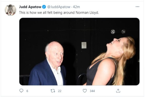 Norman Lloyd died at home in Los Angeles