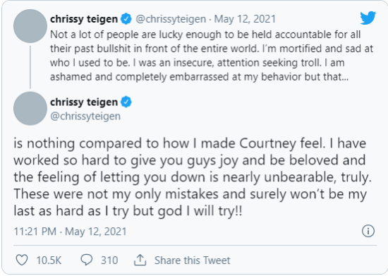 What Did Chrissy Teigen Say to Courtney Stodden, Led to Apology