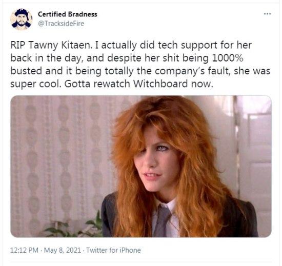 The actress Tawny Kitaen has died at 60