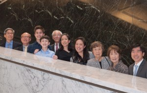 Judge Youlee Yim You at center (in black) with her extended family. Photo by Rod Saiki