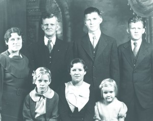 Lars and Julia Beck family in 1935. Jewel is front row, right. All photos courtesy or Ron and Jewel Lansing