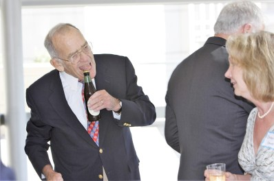 Judge Redden in a jovial mood at the 2008 Bench and Bar Social. Photo by Owen Schmidt.