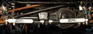 7350  Zone Offroad  0517 Ford F250F350 Dual Steering Stabilizer Kit  Black