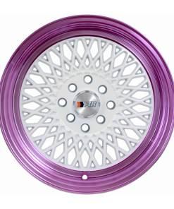 F1R wheels F01 White Purple Lip