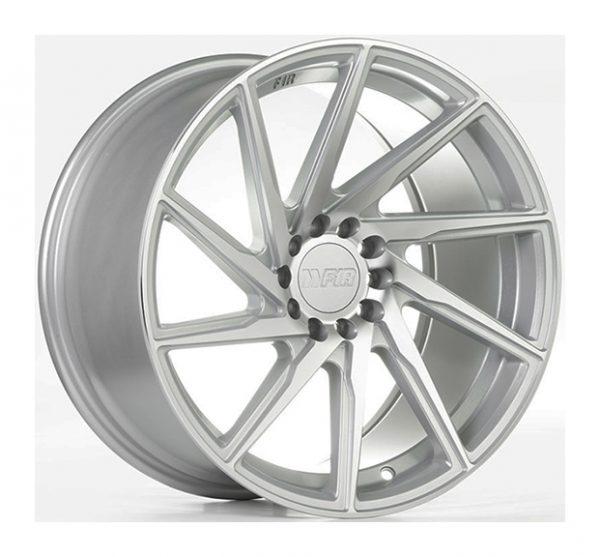 18x8.5 F1R F29 5x100//114.3 38 Hyper Black//Polish Lip Wheel 1