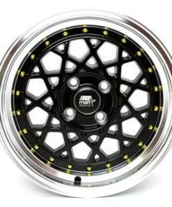 MST wheels Fiori Matte Black Gold Rivets