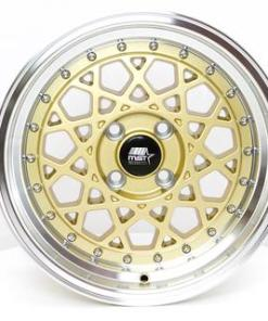 MST wheels Fiori Gold Machined Lip