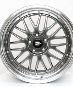 MST wheels LeMan Hyper Black Machined Lip