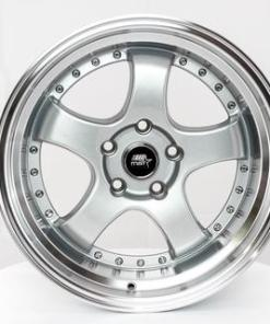 MST wheels MT07 Silver Machined Lip