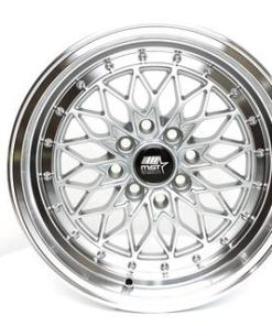 MST wheels MT36 Silver Machined Lip