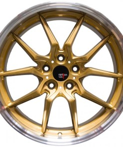 Options Lab wheels S718 Top Secret Gold Machined Lip