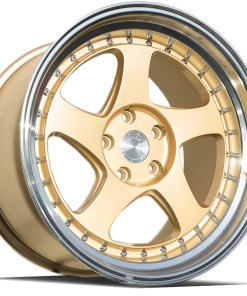AH01 AH01 18X10.5 5X114.3 Gold Machined Lip