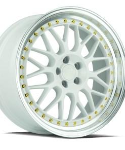 AH02 AH02 18X8.5 5X114.3 White Machined Lip