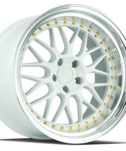 AH02 AH02 19X9.5 5X114.3 White Machined Lip