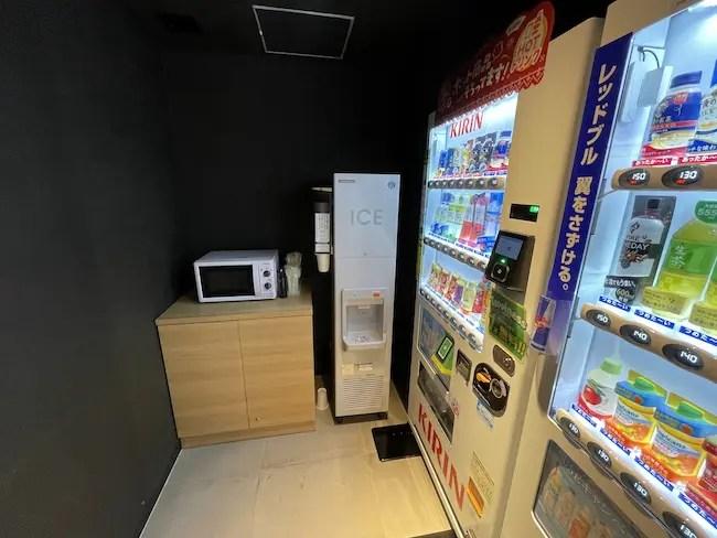 STATION WORK ホテルメッツ横浜・電子レンジ 自動販売機 製氷機