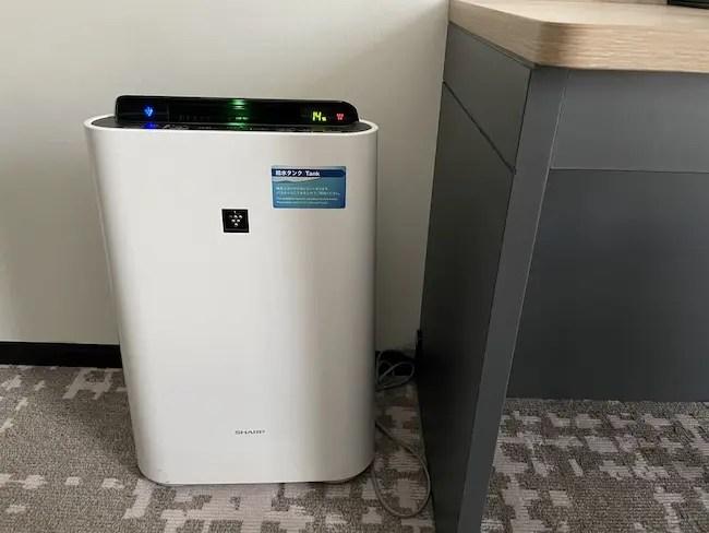 STATION WORK ホテルメッツ横浜・客室 加湿機能付き空気清浄機