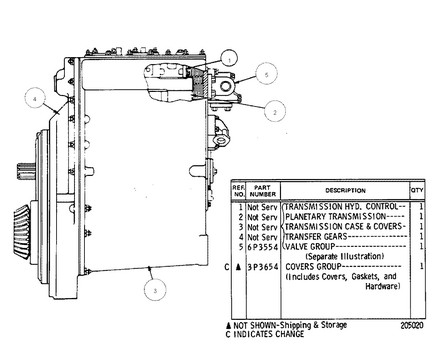 3P3022 TRANSMISSION D8K REBUILT OUTRIGHT