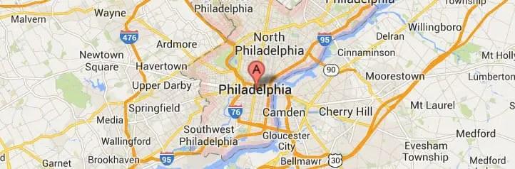 Philadelphia PA Map