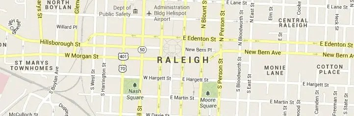 Raleigh North Carolina Map