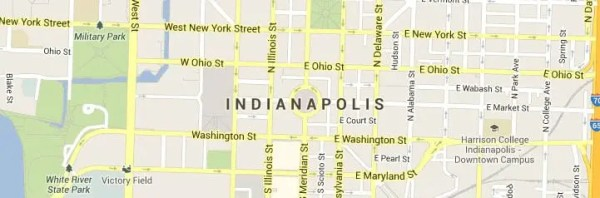 Indianapolis-Indiana-Map