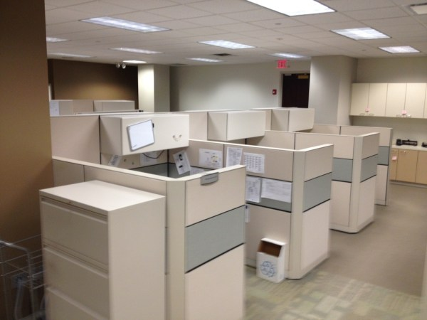 Used Allsteel 6x6 and 8x6 cubicles5