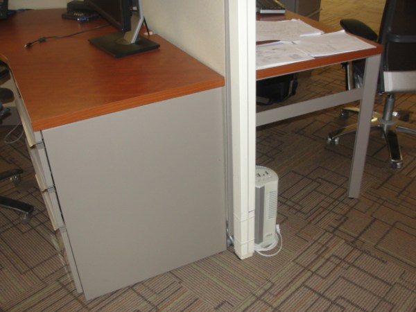 Used Knoll 120 degree workstations1