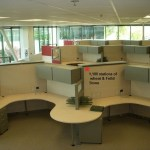 Used 6×8 or 6×6 or 8×8 Steelcase Answer with 54 high panels4