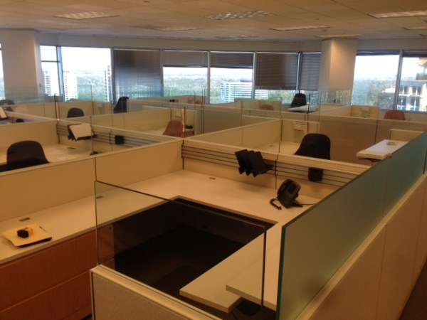 Rare Knoll Autostrada Cubicles with Glass