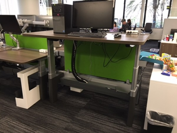 Steelcase Bivi Height Adjustable Benching Cubicles