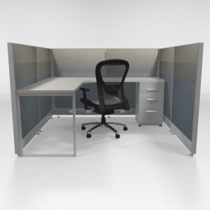 "6X6 47"" Tiled Cubicles with One File"