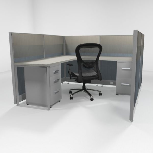 "6X6 47"" Tiled Cubicles with Two Files"