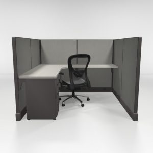6X6 53″ High Cubicles with One File
