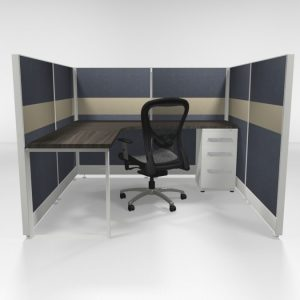 "6X6 53"" Tiled Cubicles with One File"
