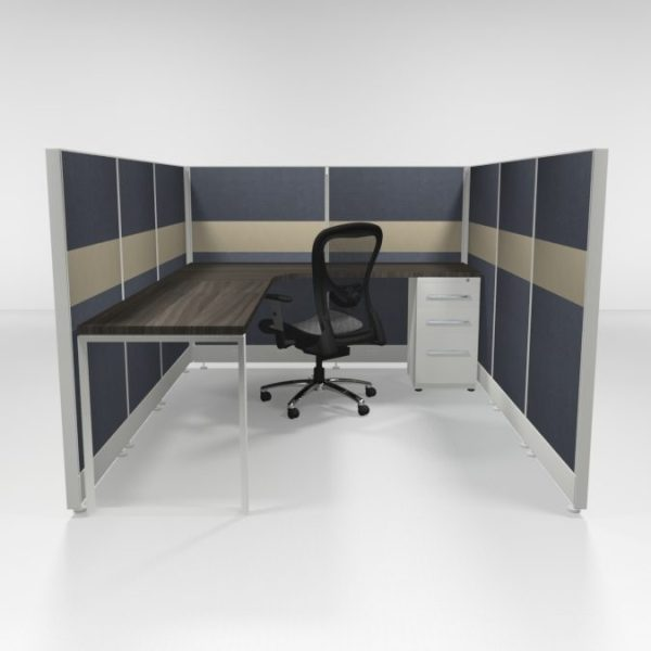 """6x8 53"""" Tiled Cubicles with One File"""
