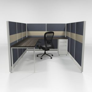 "6x8 53"" Tiled Cubicles with One File"